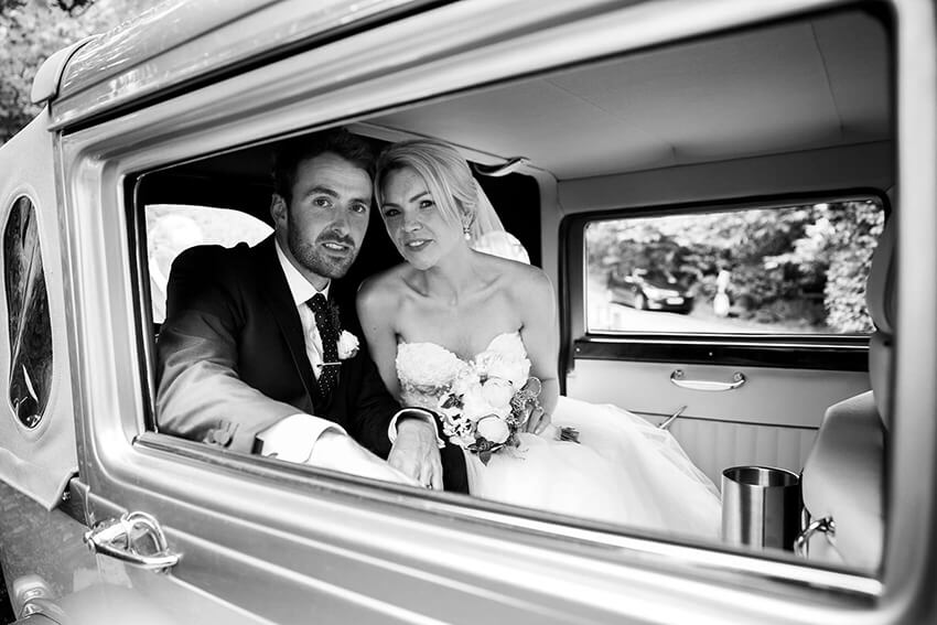 bernard carolan wedding photographer wicklow car