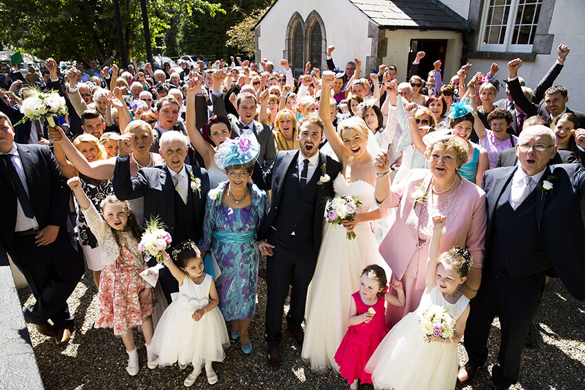 bernard carolan wedding photographer wicklow guests party group