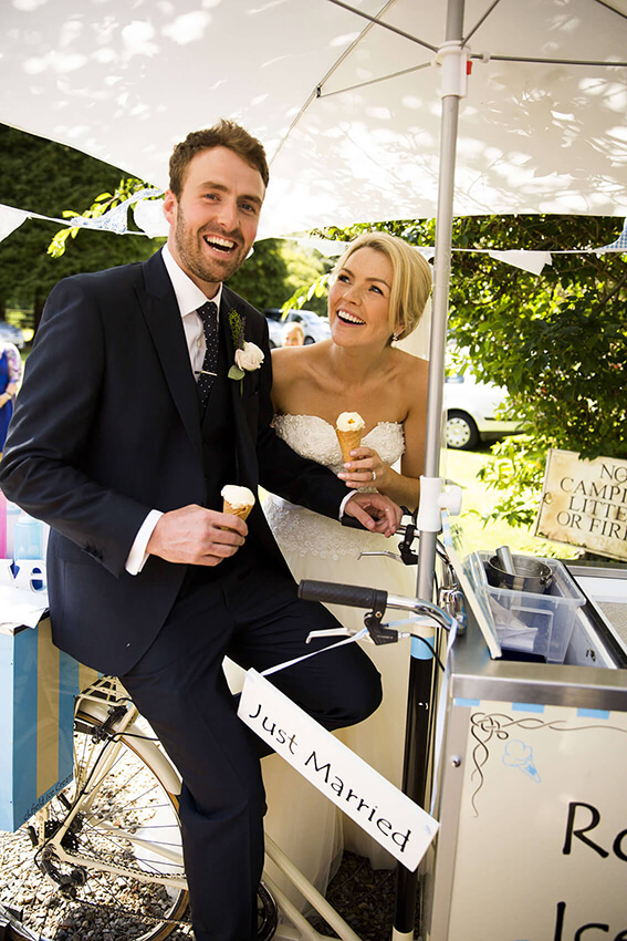 bernard carolan wedding photographer wicklow just married ice cream